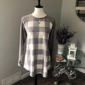 Soft Checkered Long-sleeve